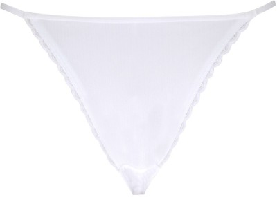 Peches String with Laced Edgings Women's Bikini White Panty