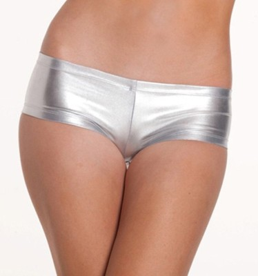 YRD Metallic Women's Boy Short Silver Panty