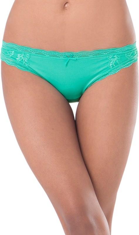 PrettySecrets Women's Thong Green Panty(Pack of 1)