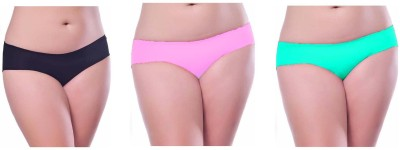 Our Rituals Women's Hipster Black, Pink, Light Green Panty
