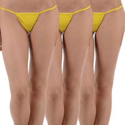 Aws Fashion Women's G-string Yellow Panty