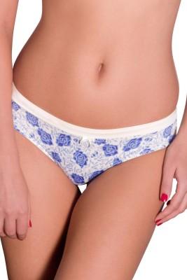 Amante Women's Bikini White, Blue Panty