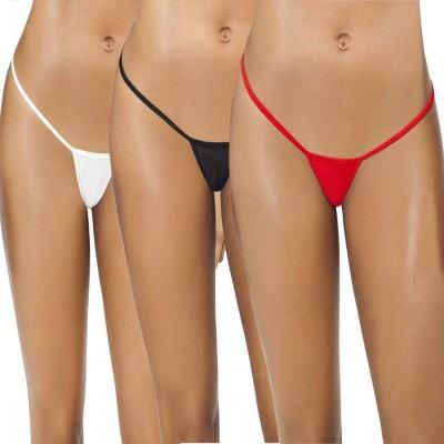 SIZZLE N SHINE Women's G-string White, Red, Black Panty