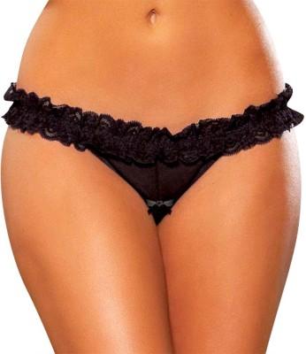 Hustler KPHP2 Women's Thong Black Panty