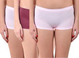 Lienz Women's Boy Short Pink, Maroon Panty(Pack of 3)