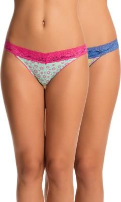 PrettySecrets Women's Thong Pink, Blue Panty