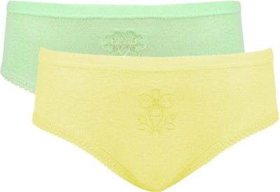 Avzee Embroidered Women's Hipster Yellow, Green Panty