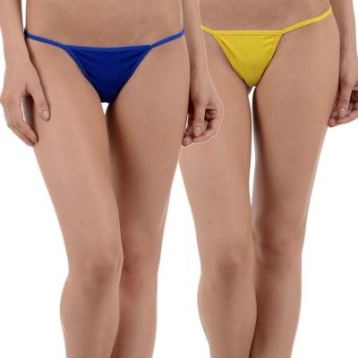 Aws Fashion Women's G-string Blue, Yellow Panty