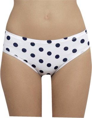 The Darling Trap Women's Hipster White, Blue Panty