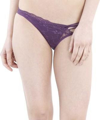 JKFs Women's Thong Purple Panty