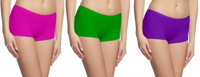 Fashion Line Women's Boy Short Multicolor Panty(Pack of 3) at flipkart