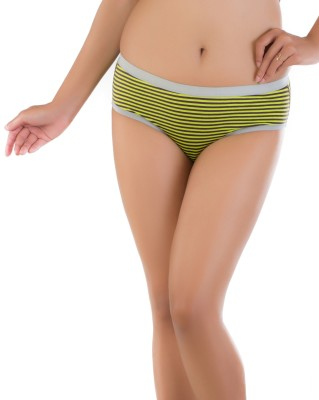 red oranges Women's Hipster Green Panty
