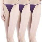 TIMI Women's G-string Purple Panty (Pack...