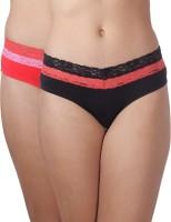 Heart 2 Heart Women's Hipster Red, Black Panty(Pack of 2) best price on Flipkart @ Rs. 405