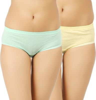 Vaishma Women's Brief Yellow, Green Panty