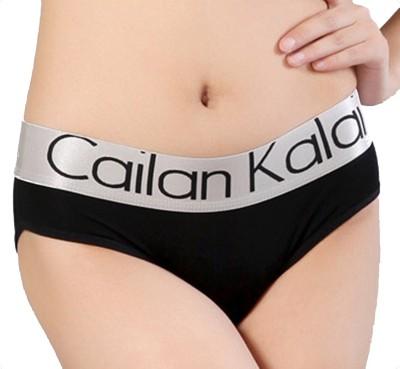 Cailan Kalai Women's Thong Black Panty(Pack of 1) at flipkart