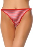 Pavvoin Women's Thong Red Panty (Pack of...