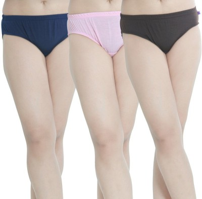 So-Soft Women's Hipster Pink, Brown, Dark Blue Panty