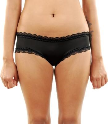 Gwyn Women's Hipster Black Panty