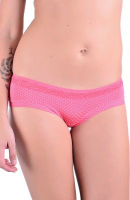 Naughtee Women's Hipster, Brief Pink Panty