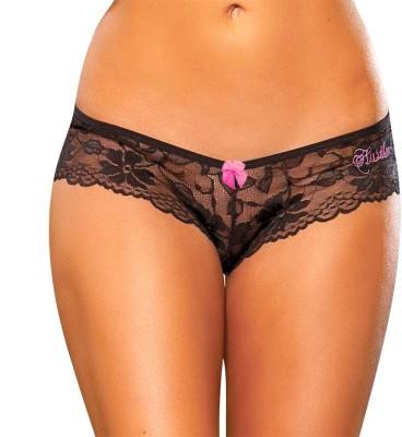 Hustler KPHP10 Women's Brief Black Panty