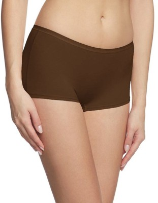 Fashion Line Women's Boy Short Brown Panty
