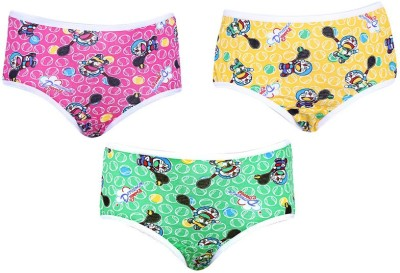 Red Rose RR07B Girl's Hipster Green, Yellow, Pink Panty