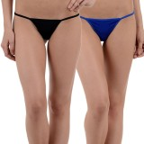 FIHA Women's G-string Black, Blue Panty ...