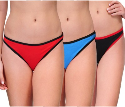 Urbaano Swanky-T Women's Hipster Red, Black, Light Blue Panty