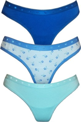 Kaamastra BT35-36-37 Women's Thong White, Blue, Green Panty
