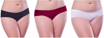 Our Rituals Women's Hipster Black, Maroon, White Panty