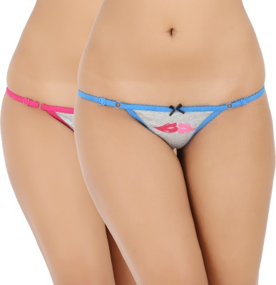 Vaishna Women's Bikini Pink, Blue Panty