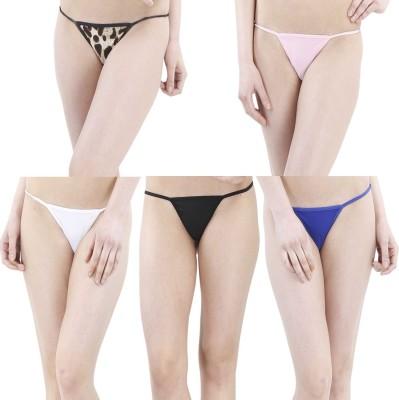 FIHA Women's G-string Multicolor Panty