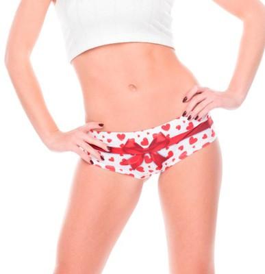 TheShoppingDiary Women's Bikini Red, White Panty