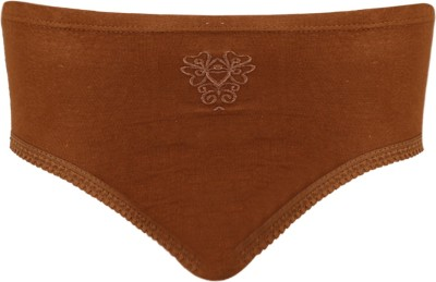 Vaishma Embroidered-BR Women's Brief Brown Panty