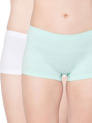 Channel Nine Women's Hipster Green, White Panty