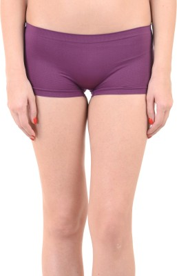 Mynte Women's Boy Short Purple Panty