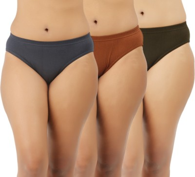 Extreme Women's Brief Grey, Brown, Green Panty