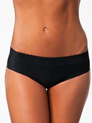 PrivateLifes Butt Lifter Low Waist Panties Women's Brief Black Panty