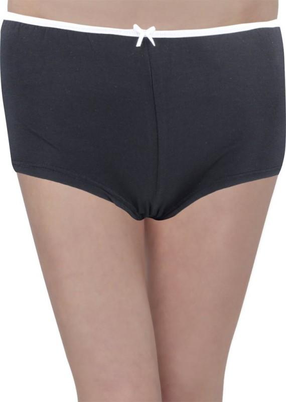 Hey It's Me Women's Brief Black Panty(Pack of 1)