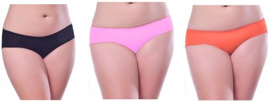 Our Rituals Women's Hipster Black, Pink, Orange Panty