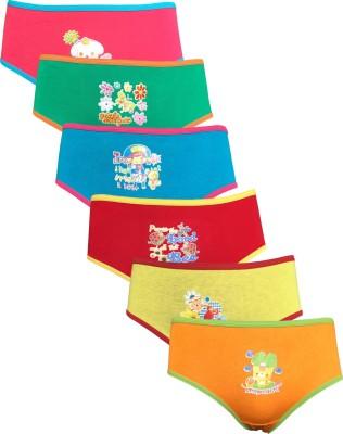 Lilsugar Girl's Hipster Orange, Blue, Pink, Red, Yellow, Green Panty