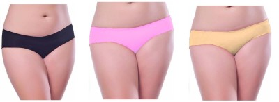 Our Rituals Women's Hipster Black, Pink, Yellow Panty