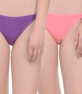 Ploomz Women's Bikini Purple, Pink Panty