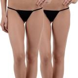 FIHA Women's G-string Black Panty (Pack ...