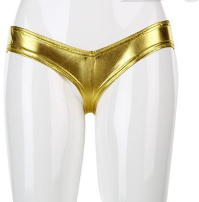 YRD Metallic Women's Brief Gold Panty