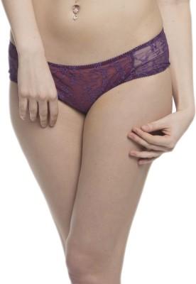 Clovia Lacy Brief In Purple Women's Hipster Purple Panty