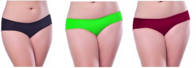Our Rituals Women's Hipster Black, Green, Maroon Panty