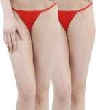 FIHA Women's G-string Red Panty (Pack of...