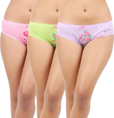 Avanthi Pnpugn Women's Brief Pink, Purple, Green Panty